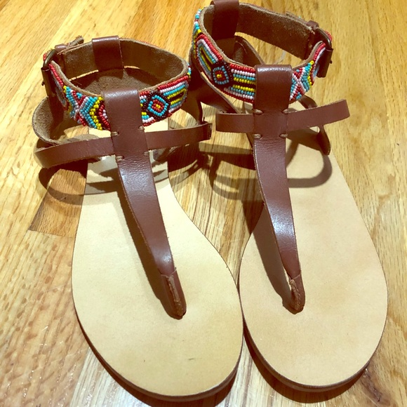 Ecote Shoes - Urban Outfitters Beaded Sandals